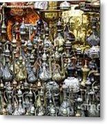 Coffee Pots At The Grand Bazaar In Istanbul Turkey Metal Print