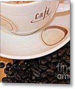 Coffee Rush Metal Print