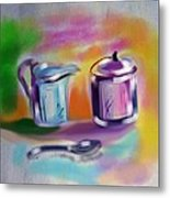 Coffee Still Life Metal Print
