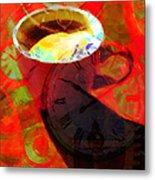 Coffee Time My Time 5d24472m12 Metal Print