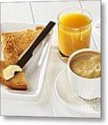 Coffee Toast Orange Juice Metal Print by Colin and Linda McKie