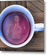 Coffee With A Psycho Metal Print