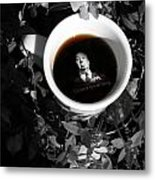 Coffee With Alfred Metal Print