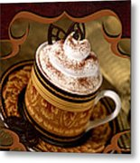 Coffee With Whipped Topping And Chocolates Metal Print