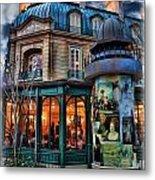 Coffeehouse - Belle Soiree Au Cafe Metal Print