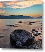 Cogburn Beach Rocks Metal Print