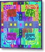 Cognitive Quilt Metal Print