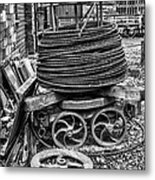 Coiled Cable Metal Print