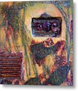 Coin Of The Realm Encaustic Metal Print