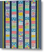 Coin Quilt -  Painting - Multicolors - Borders Metal Print