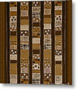 Coin Quilt - Painting - Sepia Patches Metal Print