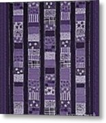 Coin Quilt -quilt Painting - Purple Patches Metal Print