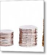 Coin Stack Metal Print