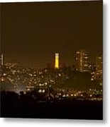 Coit Tower In The Giant's Team Color Metal Print