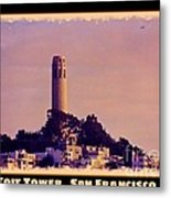 Coit Tower Poster Metal Print
