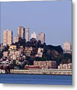 Coit Tower Sits Prominently On Top Of Telegraph Hill In San Fran Metal Print by Scott Lenhart