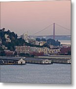 Coit Tower Sits Prominently On Top Of Telegraph Hill In San Francisco Metal Print