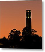Coit Tower Sunset Metal Print