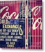 Coke And Gold Metal Print