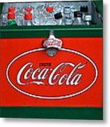 Coke Cooler Metal Print