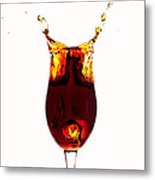 Coke Splashing In The Cup Liquid Art Metal Print by Paul Ge