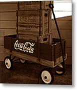 Coke Wagon Metal Print