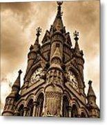 Colck Tower Stratford On Avon Sepia Metal Print