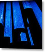Cold Blue Steel Metal Print