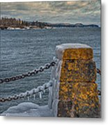 Cold Day On Superior Metal Print