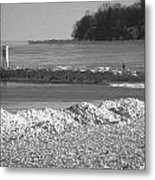 Cold Day On The Pier Metal Print
