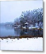 Cold Feet - A Winter Landscape Metal Print