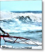 Cold Feet - Stormy Seas - Outer Banks Metal Print