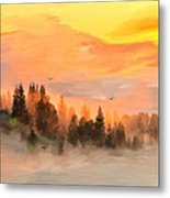 Cold Foggy Spring Morning Metal Print