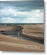 Cold Morning At The Beach Metal Print