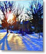 Cold Morning Sun Metal Print by Jeff Kolker