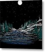 Cold Mountain Winter Metal Print