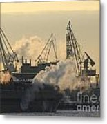 Cold Port Winter Metal Print