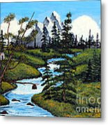 Cold Rattling Brook  Metal Print by Barbara Griffin