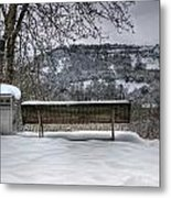 Cold Seat With A View 2 Metal Print
