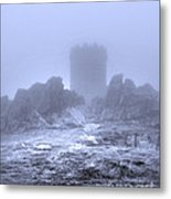 Cold Tower Of Mist Metal Print
