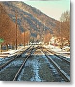 Cold Tracks Through Montgomery Metal Print