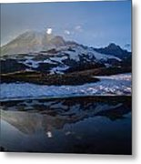 Cold Water Mountain Metal Print
