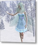 Cold Winter Fairy Metal Print