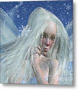 Cold Winter Fairy Portrait Metal Print