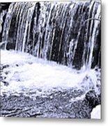 Cold Winter Falls Metal Print