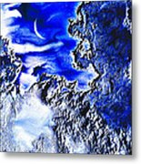 Cold Crescent Moon Phase Metal Print