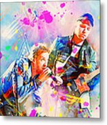 Coldplay Metal Print by Rosalina Atanasova
