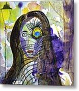 Collage Girl Metal Print