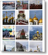 Collage Moscow Kremlin 1 - Featured 3 Metal Print