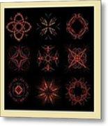Collage Of Fractals Metal Print